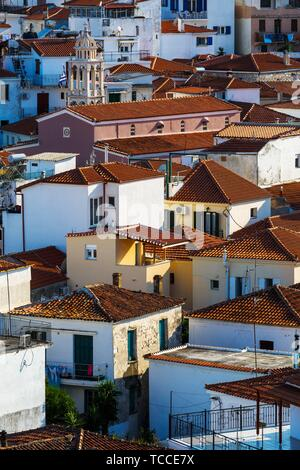 View of the old town on Skiathos island, Greece.. - Stock Photo