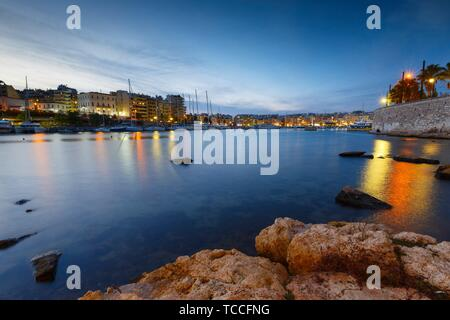Evening view of Zea Marina in Athens, Greece.. - Stock Photo