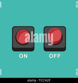 Buttons flat icons - Stock Photo