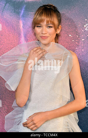 Zendaya attending the HBO TV-Series 'Euphoria' at Cinerama Dome on June 4, 2019 in Los Angeles, California - Stock Photo
