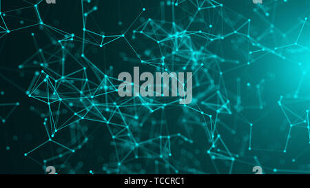 Abstract connection dots. Technology background. Network concept