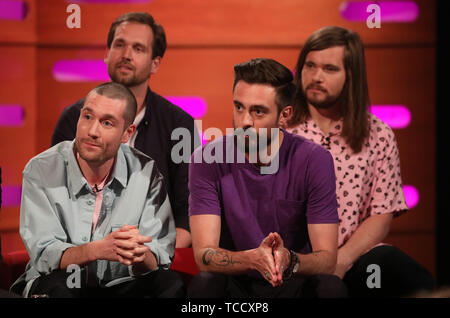 Dan Smith of Bastille during the filming for the Graham Norton Show
