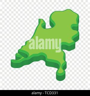 Holland map icon, cartoon style - Stock Photo