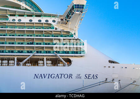 Bow of Navigator of the Seas - Stock Photo