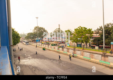 BANGALORE INDIA June 3, 2019:Buses in the Kempegowda Bus Station known as Majestic during morning time - Stock Photo