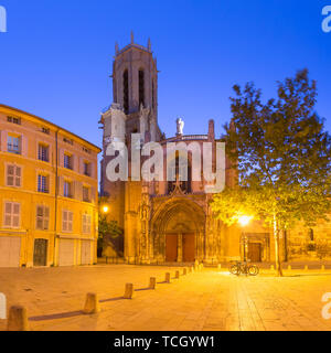 Aix Cathedral in Aix-en-Provence, France - Stock Photo