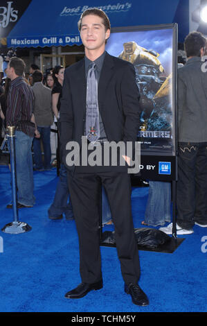 LOS ANGELES, CA. June 28, 2007: Shia LaBeouf at the Los Angeles premiere of his new movie 'Transformers'. © 2007 Paul Smith / Featureflash - Stock Photo