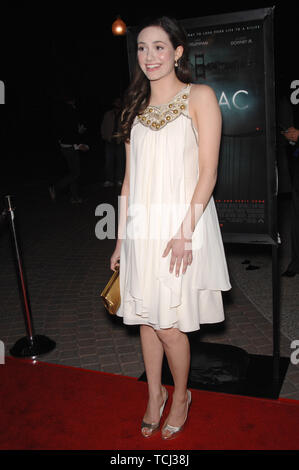 LOS ANGELES, CA. March 01, 2007: Emmy Rossum at the Los Angeles premiere of 'Zodiac' at Paramount Studios, Hollywood. © 2007 Paul Smith / Featureflash - Stock Photo