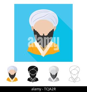 Vector illustration of imitator and resident symbol. Collection of imitator and culture stock vector illustration. - Stock Photo