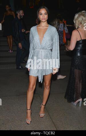 E! Entertainment, Elle and IMG Kick-Off Party, Arrivals, Spring Summer 2019, New York Fashion Week, USA - 05 Sep 2018 - Shanina Shaik - Stock Photo
