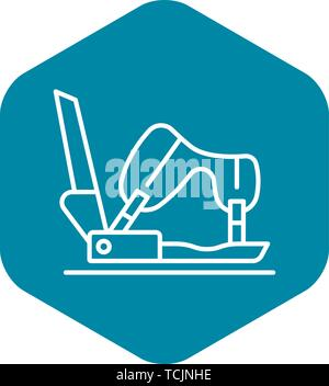Shoe protect icon, outline style - Stock Photo