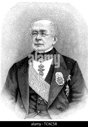 Alexander Mikhailovich Gorchakov, 15 July 1798, 11 March 1883, a Russian diplomat and statesman, 1890, historical illustration, Russia - Stock Photo