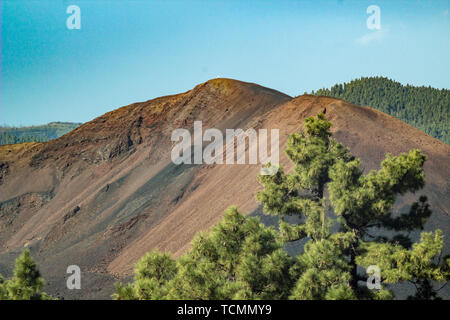 Volcano Chinyero - created by last eruption on Tenerife in 1909. Canary Islands Spain. - Stock Photo