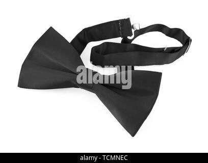 Black bow tie isolated on white background - Stock Photo