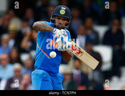 London, UK. 09th June, 2019. LONDON, England. June 09: during ICC Cricket World Cup between India and Australia at the Oval Stadium on 09 June 2019 in London, England. Credit: Action Foto Sport/Alamy Live News - Stock Photo