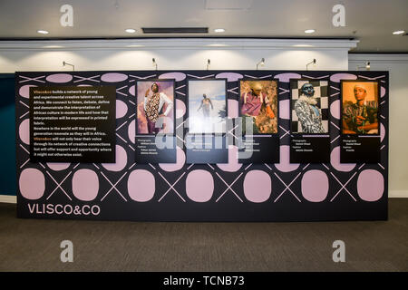 London, UK. 09th June, 2019. The Business of African Fashion at WISH Africa Expo, a showcase of Pan-Africanism at Olympia Conference Centre on 9 June 2019, London, UK. Credit: Picture Capital/Alamy Live News - Stock Photo