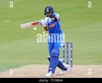 London, UK. 09th June, 2019. Virat Kohli of India batting during the ICC Cricket World Cup match between India and Australia, at The Kia Oval, London. Credit: Cal Sport Media/Alamy Live News - Stock Photo