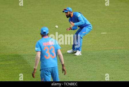 London, UK. 09th June, 2019. Virat Kohli of India fielding during the ICC Cricket World Cup match between India and Australia, at The Kia Oval, London. Credit: Cal Sport Media/Alamy Live News - Stock Photo
