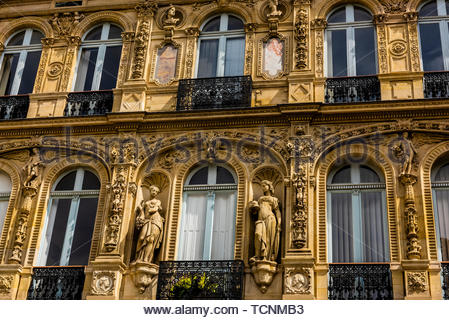 Hotel de la Paiva (Mansion of La Paiva) is an historic townhouse located at 28 Place St. Georges in the 9th arrondissement, Paris, France. - Stock Photo