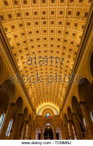 Interior view, St. Pierre du Gros Caillou parish church on Rue St. Dominique, Paris, France. - Stock Photo