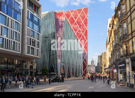 Nova, a striking modern high rise building by Morpheus London,  a mixed use development in Belgravia, Victoria, Westminster London SW1, UK - Stock Photo