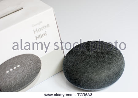 Google home mini smart speaker - Stock Photo