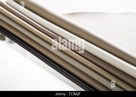 All kinds of leather. - Stock Photo