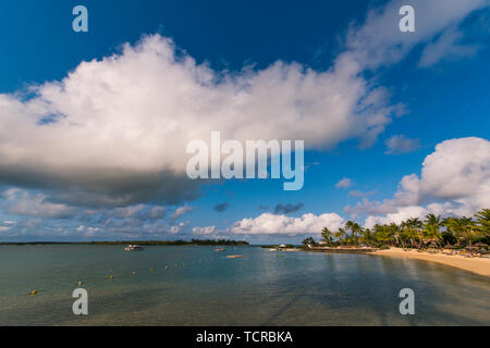 Mauritian scenery, taken in Four Seasons Resort Mauritius at Anahita at the Anacitaski Resort, Mauritius - Stock Photo