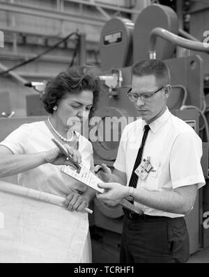 Margaret W. 'Hap' Brennecke was the first female welding engineer to work in the Materials and Processes Laboratory at NASA's Marshall Space Flight Center. - Stock Photo