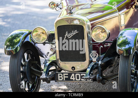 Bedford, Bedfordshire, UK June 2 2019. Fragment of The Austin Car. Austin Motor Company Limited was a British manufacturer of motor vehicles, founded  - Stock Photo