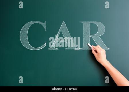 Car written on blackboard - Stock Photo