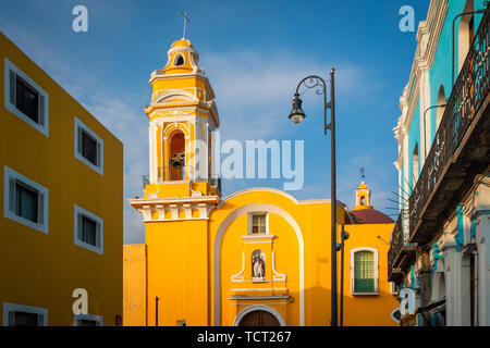 The Templo del Ex-Hospital de San Roque is an historic church in the city of Puebla, in the Mexican state of Puebla. --- Puebla, formally Heroica Pueb - Stock Photo