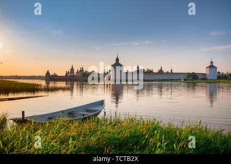 View of the Kirillo-Belozersky Monastery - Stock Photo
