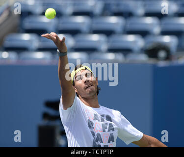 Queens, United States Of America. 24th Aug, 2013. FLUSHING, NY - AUGUST 23: Rafael Nadal practices with Andy Murray at Auther Ashe Stadium for the 2013 US Open at the USTA Billie Jean King National Tennis Center on August 23, 2013 in the Flushing neighborhood of the Queens borough of New York City. People: Rafael Nadal Credit: Storms Media Group/Alamy Live News - Stock Photo
