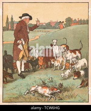 'The dog it was that died', c1879.  Creator: Randolph Caldecott. - Stock Photo