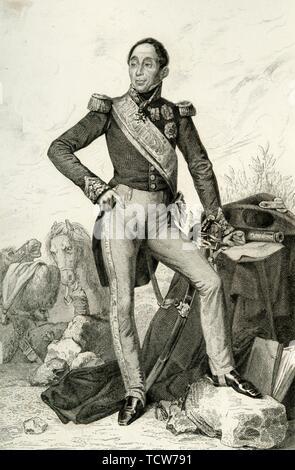 Emmanuel de Grouchy, marquis de Grouchy, 1804, (1839). Creator: Geille. - Stock Photo