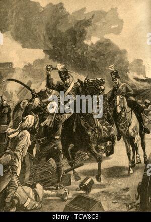 British General Joseph Thackwell at the Battle of Sobraon, Punjab, India, 1846 (c1890). Creator: Unknown. - Stock Photo