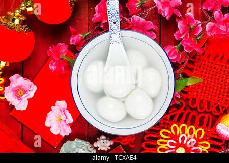 Chinese Lantern Festival food - Stock Photo