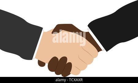 Business handshake. Bargaining. Business ethics. Flat vector illustration - Stock Photo