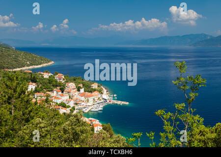 Valun, Cres Island, Kvarner Gulf, Croatia, Europe - Stock Photo