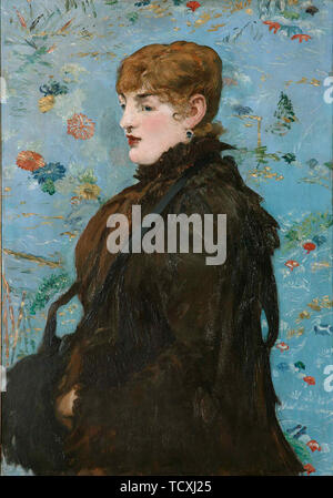 Autumn. Portrait of Méry Laurent, 1882. Found in the Collection of Musée des Beaux-Arts, Nancy. - Stock Photo