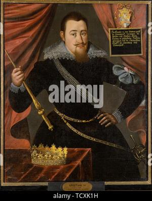 Portrait of King Christian IV of Denmark (1577-1648) . Creator: Anonymous.