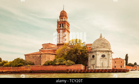 Cemetery island with the church of San Michele in Isola, Venice, Italy - Stock Photo