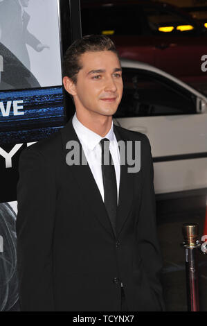 LOS ANGELES, CA. September 16, 2008: Shia LaBeouf at the Los Angeles premiere of his new movie 'Eagle Eye' at Grauman's Chinese Theatre, Hollywood. © 2008 Paul Smith / Featureflash - Stock Photo