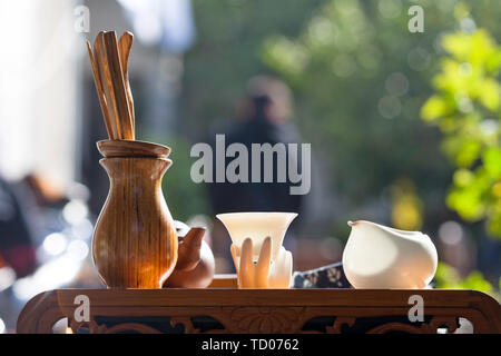 Chinese tea set on the table - Stock Photo