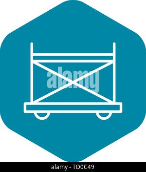 Wheel scaffold icon, outline style - Stock Photo