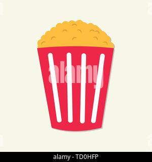 popcorn vector symbol illustration - Stock Photo