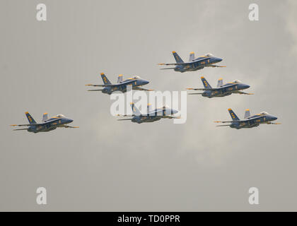 Smyrna, TN, USA. 08th June, 2019. The US Navy Blue Angels during The Great Tennessee Air Show, in Smyrna, TN. Mandatory Credit: Kevin Langley/Sports South Media/CSM/Alamy Live News - Stock Photo