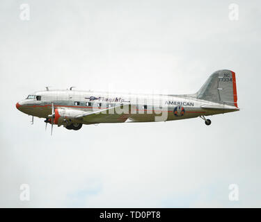 Smyrna, TN, USA. 08th June, 2019. The Spirit of Detroit DC-3 during The Great Tennessee Air Show, in Smyrna, TN. Mandatory Credit: Kevin Langley/Sports South Media/CSM/Alamy Live News - Stock Photo