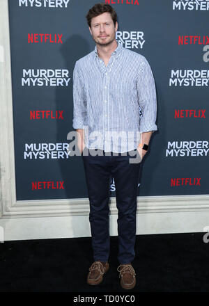 Westwood, United States. 10th June, 2019. WESTWOOD, LOS ANGELES, CALIFORNIA, USA - JUNE 10: Actor Anders Holm arrives at the Los Angeles Premiere Of Netflix's 'Murder Mystery' held at the Regency Village Theatre on June 10, 2019 in Westwood, Los Angeles, California, United States. (Photo by Xavier Collin/Image Press Agency) Credit: Image Press Agency/Alamy Live News
